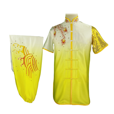 Wushu Nanquan Changquan Gongfu Costume Embroidery Phoenix Gradual Diamond Segments Performing Men and Women's Clothing