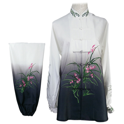 Chinese Martial Arts Clothes Kungfu Clothe  Tai Chi Clothes Competition Clothing Taijiquan adult men and women long sleeves tailor-made orchid gradually