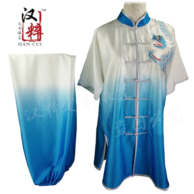 Wushu competition costume show customized embroidery Eagle gradual long fist sticker sequins for adults, children,