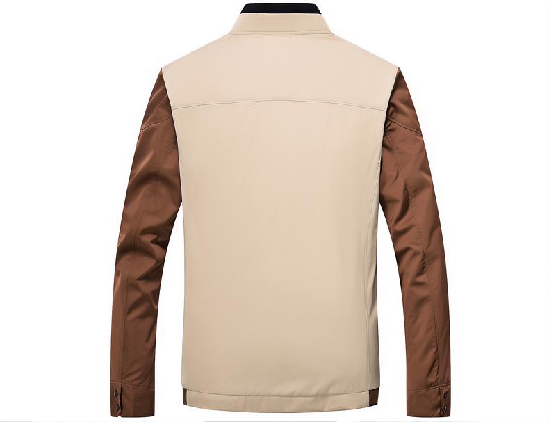 2017 mùa thu trung niên áo khoác nam phần mỏng cổ áo khoác nam áo khoác ngoài của cha kinh doanh bình thường phần 27