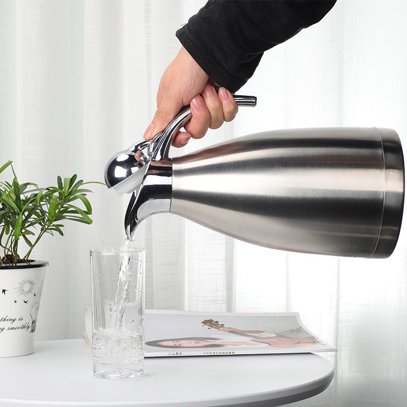 保温水壶304不锈钢保温壶家用大容量暖壶真空咖啡壶2升欧式热水瓶[优惠价30元卖出104件]