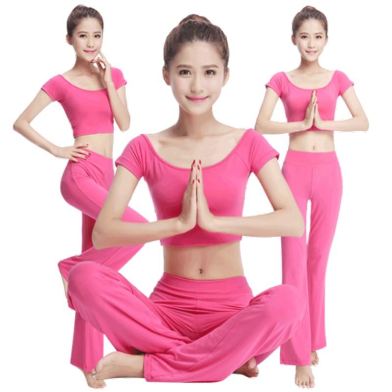 春夏新款瑜伽服套装运动健身服舞蹈服套装