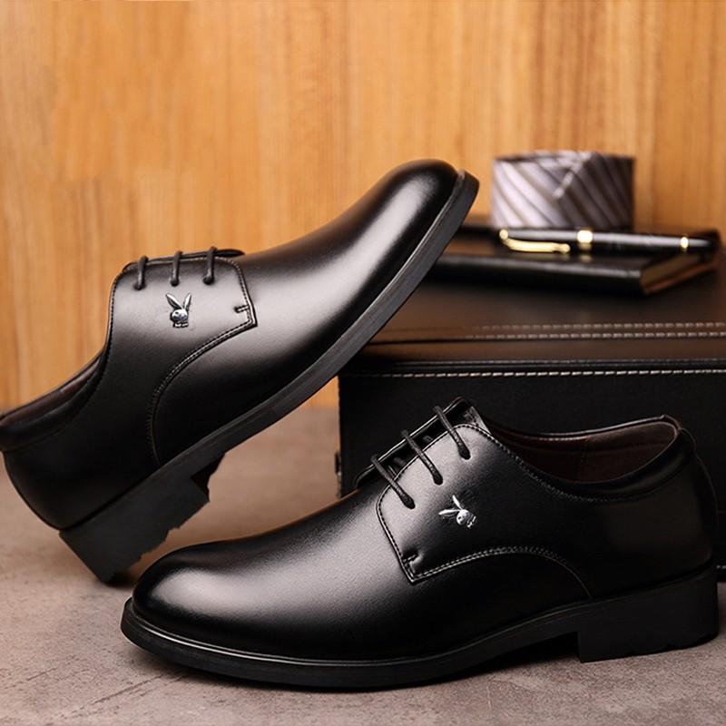 秋冬季商务正装皮鞋男系带英伦时尚办公室上班鞋结婚鞋
