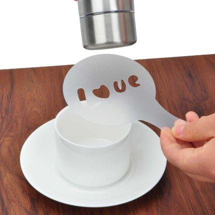 Miễn phí vận chuyển cà phê kéo hoa thực tế bảng bột 16 miếng in mẫu cà phê kéo hoa khuôn có thể kéo khác nhau lạ mắt - Cà phê