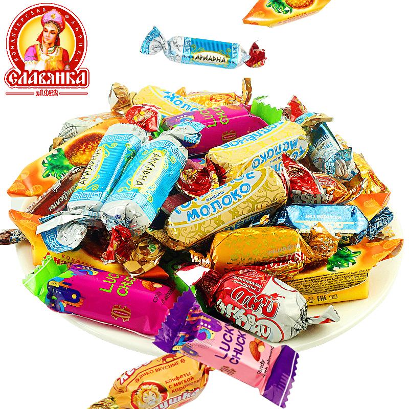 【俄罗斯进口】巧克力夹心混合糖果500G