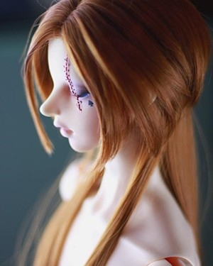taobao agent bjd wig sd/msd/dd high temperature wire 65cm3 points 4 points 6 points baby with long hair brown WDA3009 spot