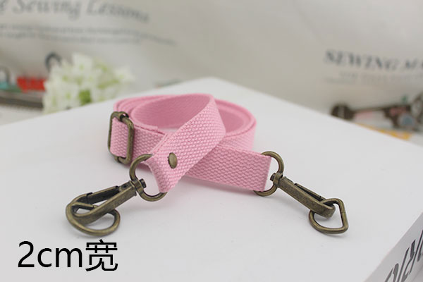 Light Pink 2cm Wide Bronze Buckle
