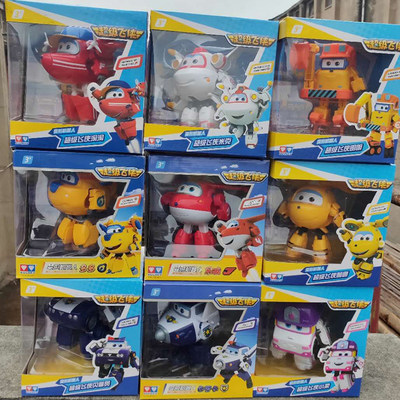 Super equipment Terrier toy set, sound large music, love, deformation robot, police, Chang Xuebaba