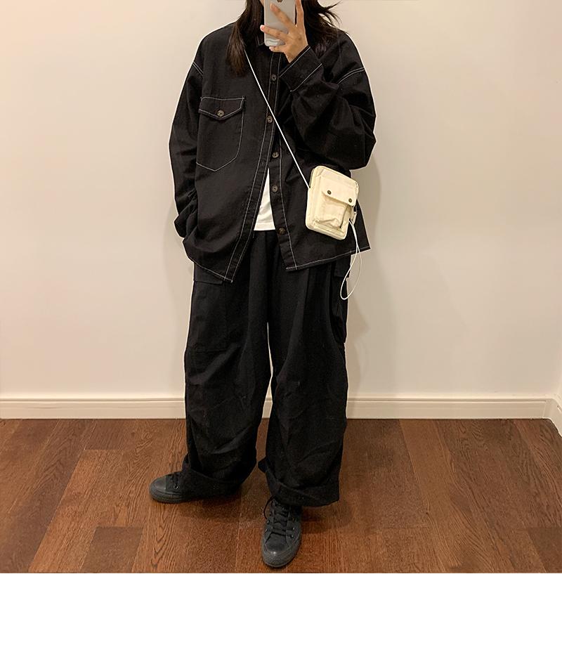 港风文艺青年宽松夹克上衣BF风潮流工装衬衫外套JK702p65控78