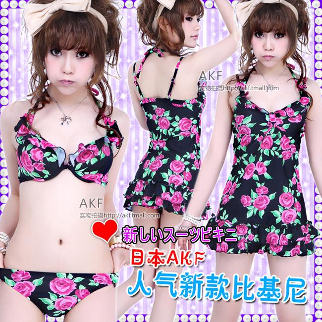 спорт Япония оригинальный сингл акф Барби Принцесса цветочный хит цвет небольшой рубашки стали опорой собрать бикини горячие купальники