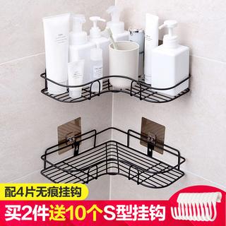 Полки для ванной,  Домой домой перфорация угол стеллажи ванная комната мыть полка ванная комната бесшовный настенный штатив хранение полка, цена 210 руб