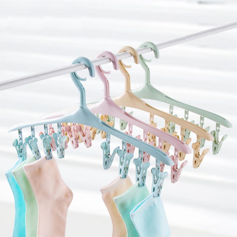 Домашние Многофункциональная вешалка для одежды висит нижнее белье носки клипсы домашняя одежда реквизит пластиковые вешалки сушильные стойки