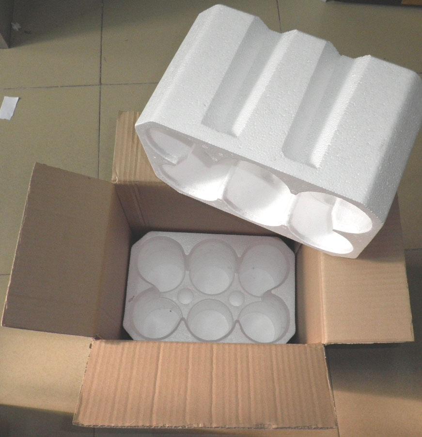 Коробка из пенопласта 6 только красное вино упаковочной коробки Бургундское вино, бутылка вина пены, содержащие коробка изоляция для вина в дельте жемчужной реки 10 комплектов