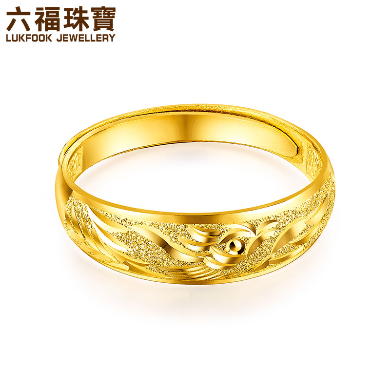 Luk Fook jewelry treasure wedding rings gold ring women wedding ...
