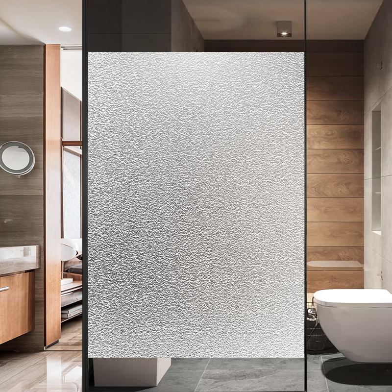 Translucent Bathroom Windows: [USD 4.99] Electrostatic Frosted Glass Foil Stickers