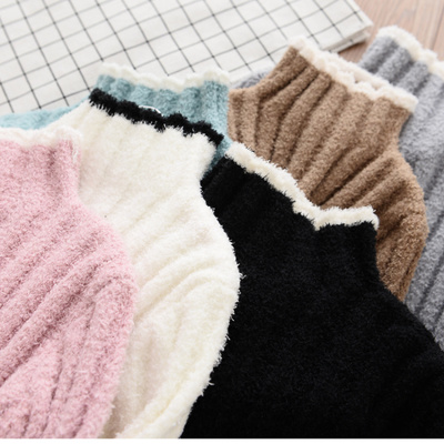 Girls high-necked sweater soft sweater children's wild comfortable stretch knit jacket new autumn and winter children's clothing