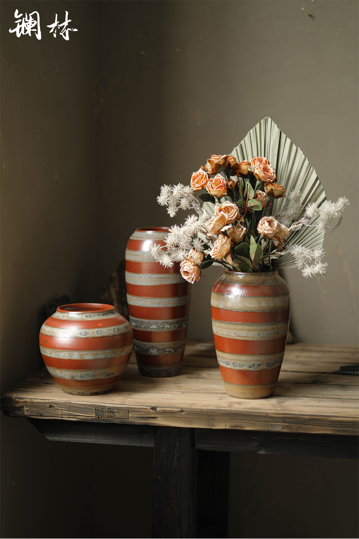 Mesa of new Chinese style ceramic vase national wind restoring ancient ways is the living room table flower decoration decorative vase furnishing articles of home stay facility