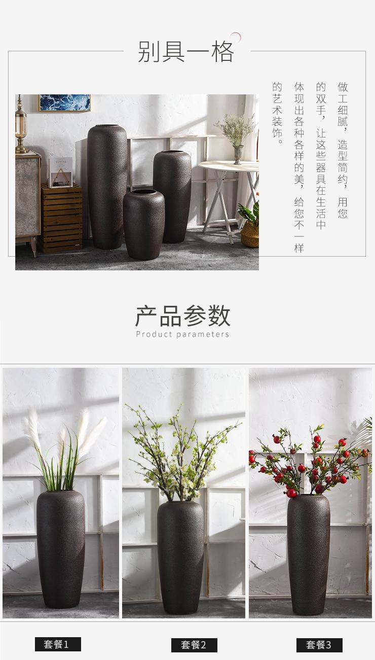 Jingdezhen ceramic vase landing, a large living room TV cabinet dry flower arranging flowers simulation flower adornment to restore ancient ways furnishing articles
