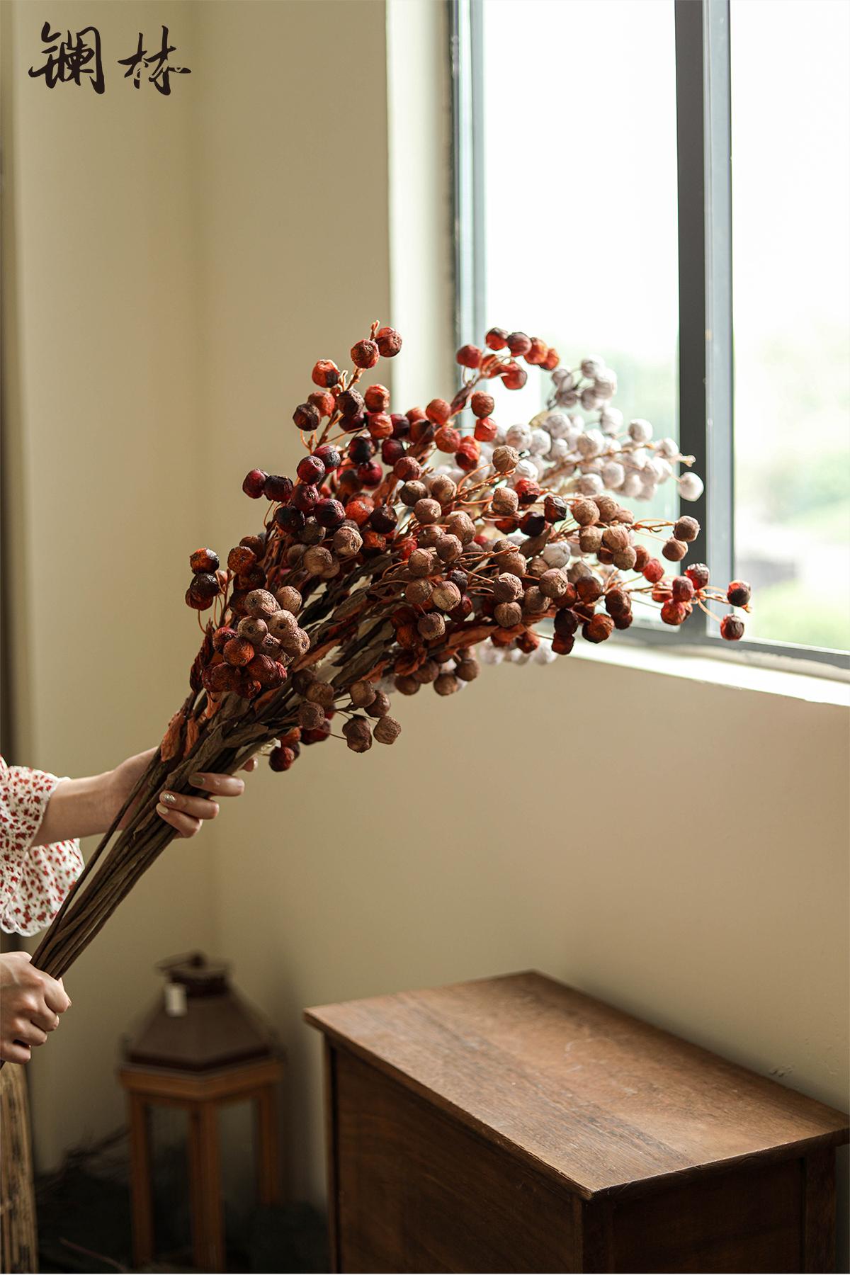 Autumn simulation flower big fruit coarse pottery furnishing articles do old wabi-sabi wind restoring ancient ways furnishing articles home stay soft outfit hotel decoration