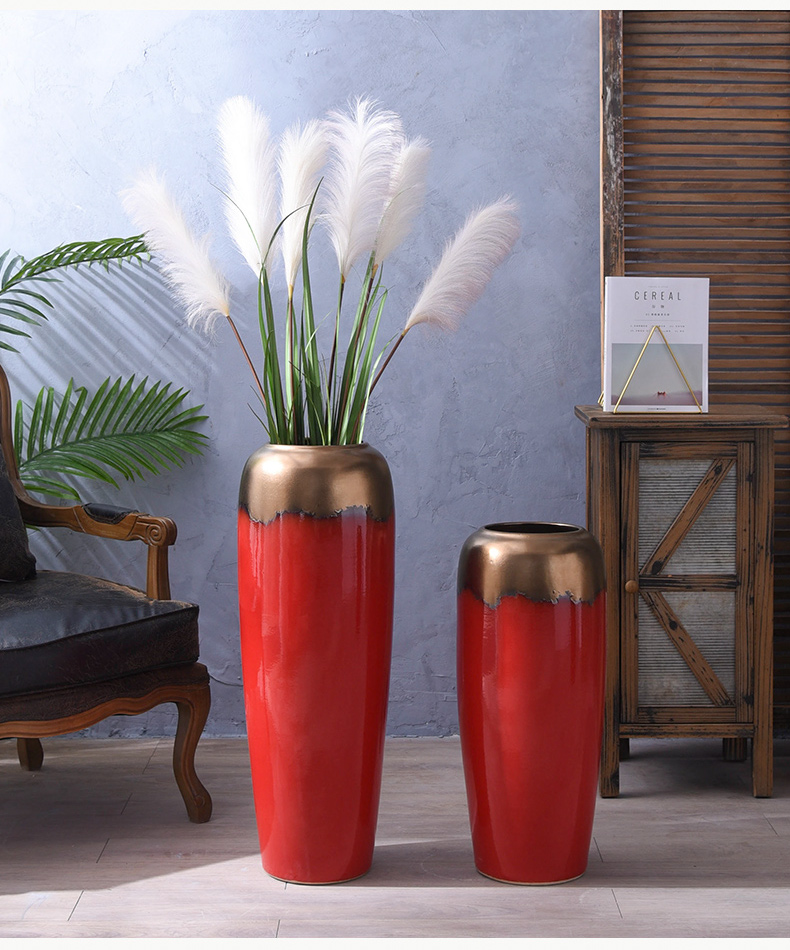 Nordic I and contracted, ceramic vases, sitting room of large vase household decorations decoration decoration flower arranging dried flowers