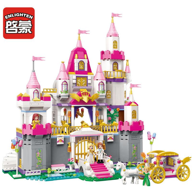 启蒙积木别墅房子益智拼装女孩公主城堡小学生儿童玩具