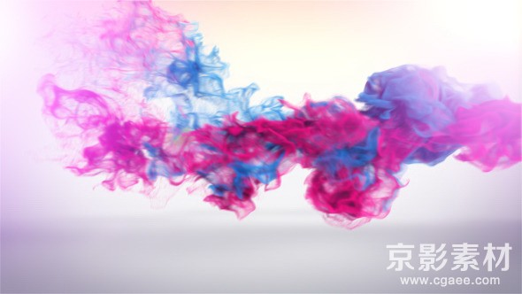 AE模板-多彩水墨粒子logo演绎片头 Trailing Particles Logo Reveal