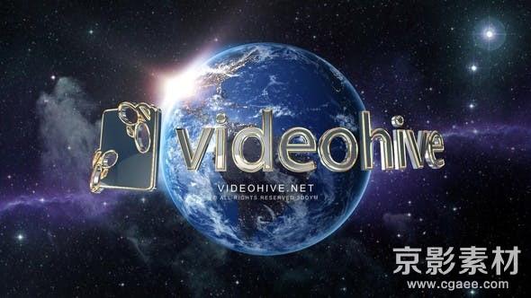 AE模板-环球影视Logo标志展示片头 Global Logo Reveal 24687876