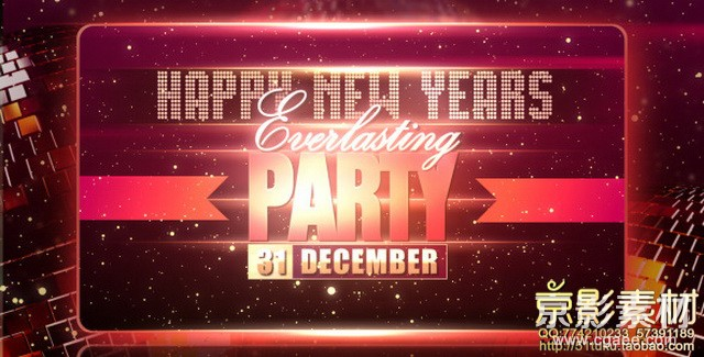 AE模板-新年派对活动宣传展示片头 New Years Party