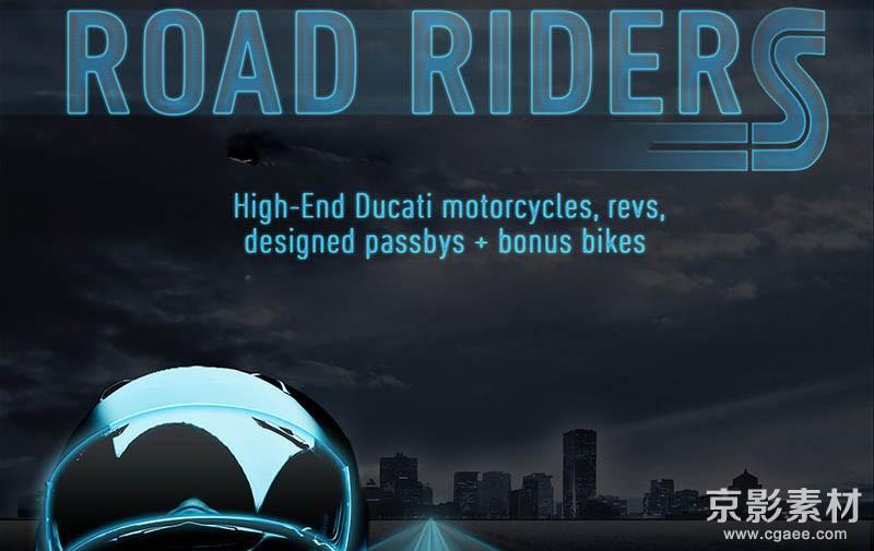 摩托车机车油门引擎公路穿过加速减速无损音效素材-Road Riders
