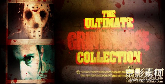 AE模板-惊悚恐怖老电影效果片头 The Ultimate Grindhouse Collection V1