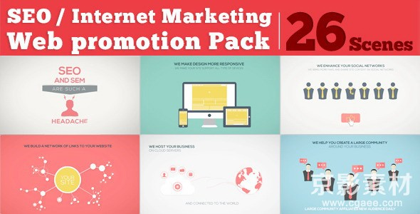 AE模板-网络营销推广片头 SEO Internet Marketing Web Promotion Pack