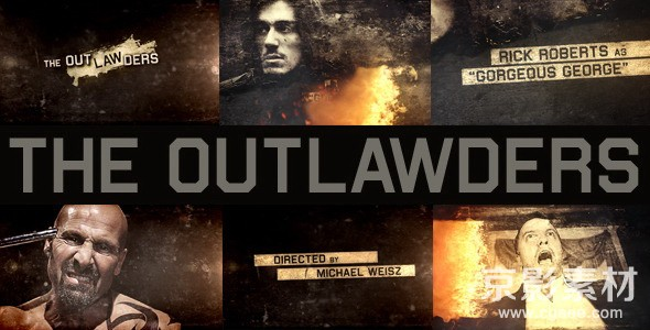 AE模板-史诗动作电影开场宣传片头 The Outlawders