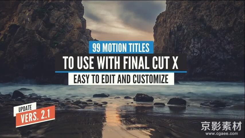 FCPX插件 99 Titles-99组文字标题字幕预设动画v2.1 Final Cut Pro X 插件
