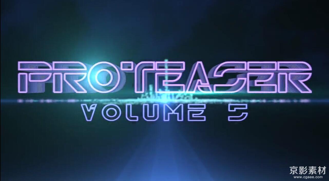 FCPX插件-PROTEASER 5-震撼片头标题效果-中文/英文