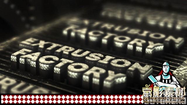 AE模板-三维电影质感文字Logo造字工厂片头 Extrusion Factory