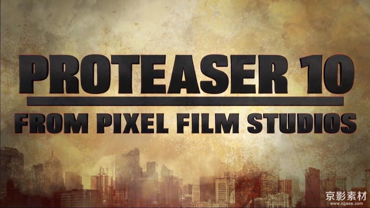 FCPX插件-PROTEASER 10-震撼片头标题效果-中文/英文-Final Cut Pro X 插件