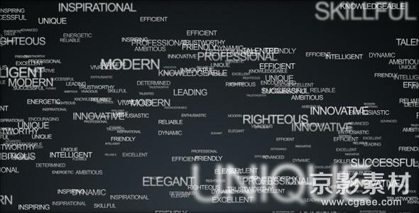 AE模板-文本汇聚成LOGO标志展示片头 Words Logo Animation