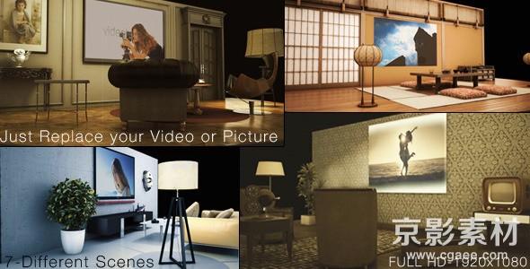 AE模板-优雅室内视觉剧场视频图片展示片头 Elegant VisionTheater