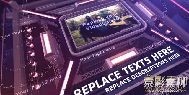 AE模板-激烈的电子数据集栏目包装片头 The Intense Techno Cube Template