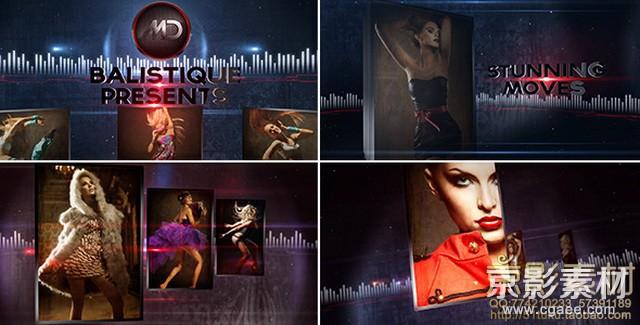 AE模板-动感劲爆快节奏时尚娱乐图片展示片头 Motion Area Promo Opener HD