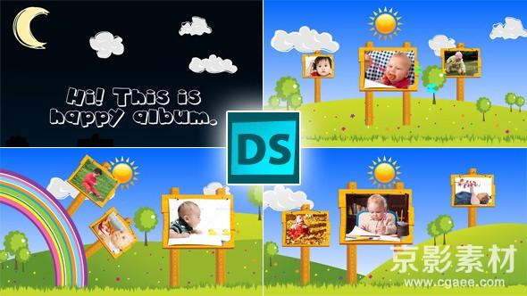 AE模板-快乐儿童节图片相册展示片头 Happy Children
