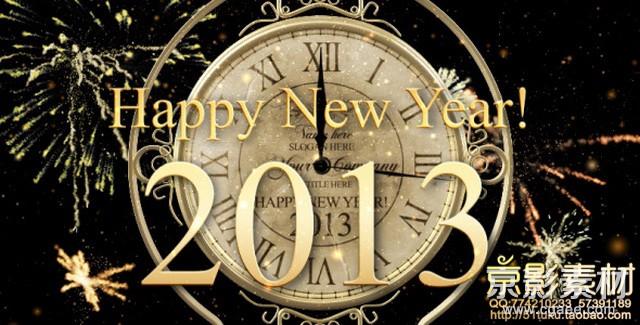 AE模板-新年倒计时时钟片头 New Year Countdown Clock