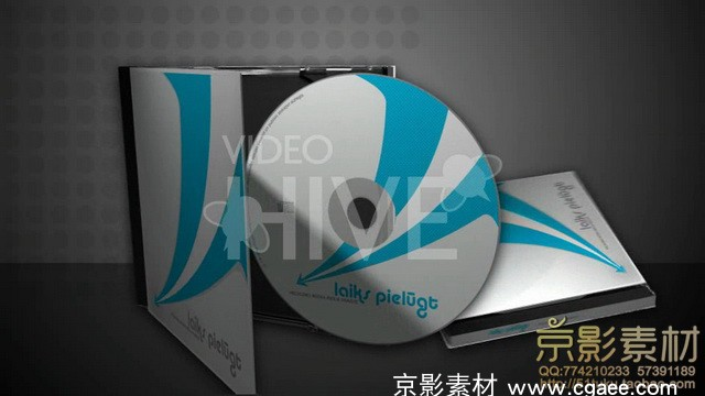 AE模板-CD封面版式3D CD cover mock-up