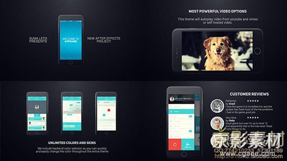 AE模板-苹果手机6应用程序宣传介绍片头 Iphone 6 App Presentation