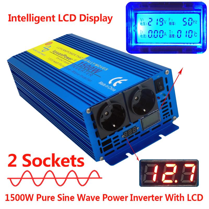 EPEVER/® IP1500-12 REINER SINUS Convertisseur de tension Inverter 1500 W 12 V vers 230 V pour voiture