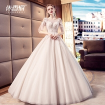 Wedding Dress Bride 2018 New summer Europe and the United States Princess word shoulder