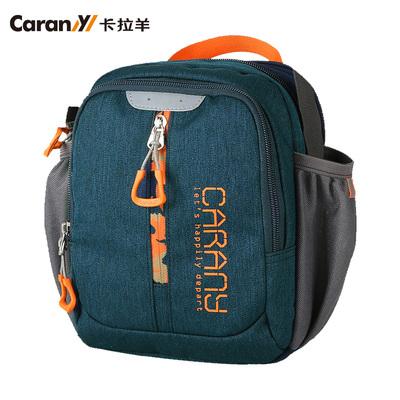 卡拉羊单肩包男包休闲包户外运动背包竖款斜挎包旅游小包包CX4067