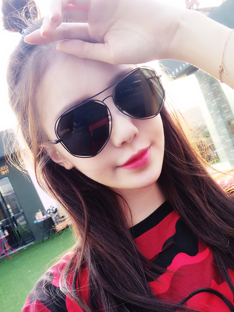 84d358d89e Sunglasses female Korean version of the tide Street Beat pink driving ...