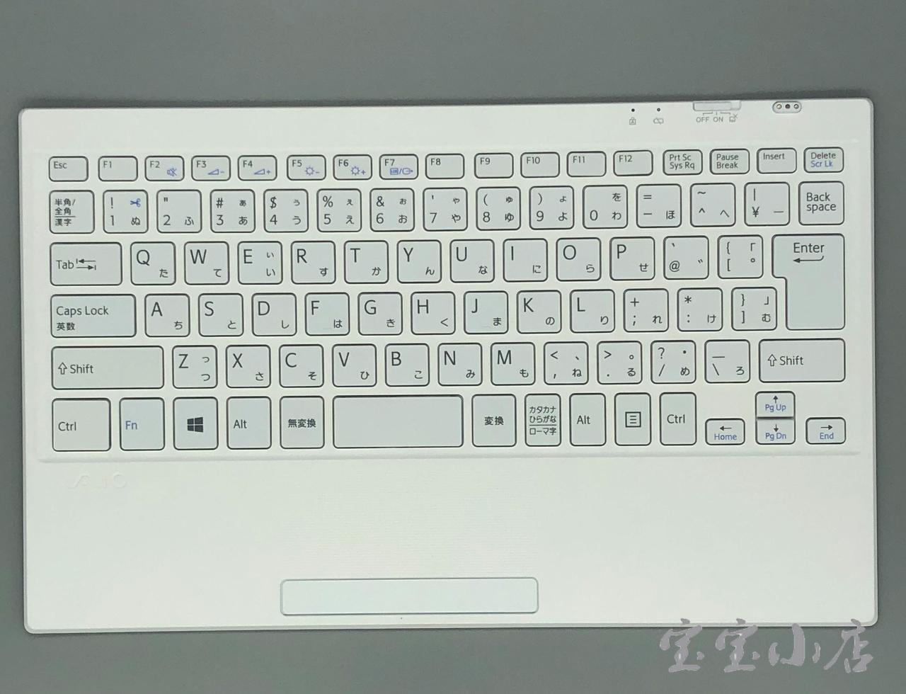 新到货248片 日文 索尼SONY VAIO VGP-WKB16A TAP11 SVT11227SCW 无线 键盘