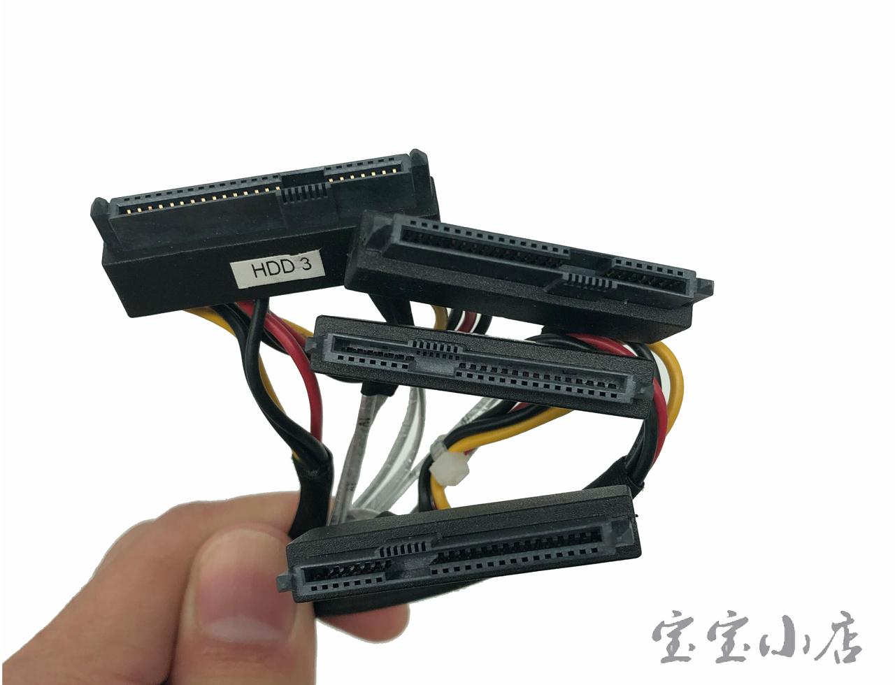 新到货33条 全新MINI SAS线SFF-8643 转 4 SAS 一拖四阵列卡接硬盘数据线1米 D P/N 0Y9PD1